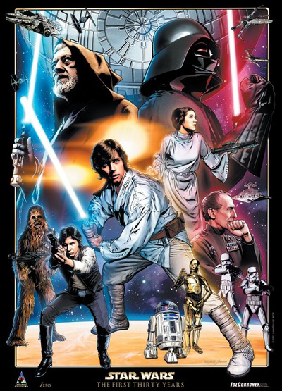 A New Hope 30th Anniversary Star Wars Celebration Europe Limited Edition Lithograph from Joe Corroney Art Store