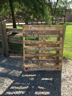Camo Wedding Outdoor Sign Greeting The Guests As They Enter