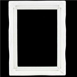 """5"""" x 7"""" Cream White Open 1 1/4"""" Ornate Scatter Frame"""