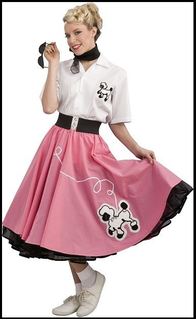 Image of 50s ROCK N ROLL POODLE SKIRTS - 4 COLOURS | || 50\'s Rock N ...