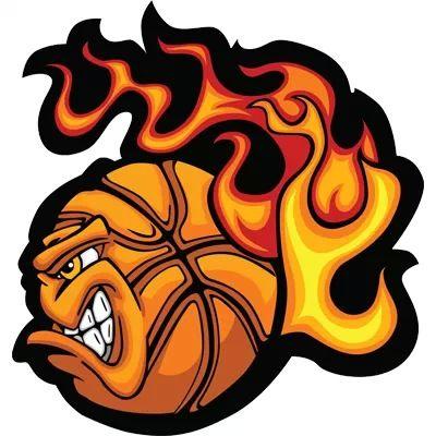 Fireball Basketball Ball Basketball Drawings Basketball Posters