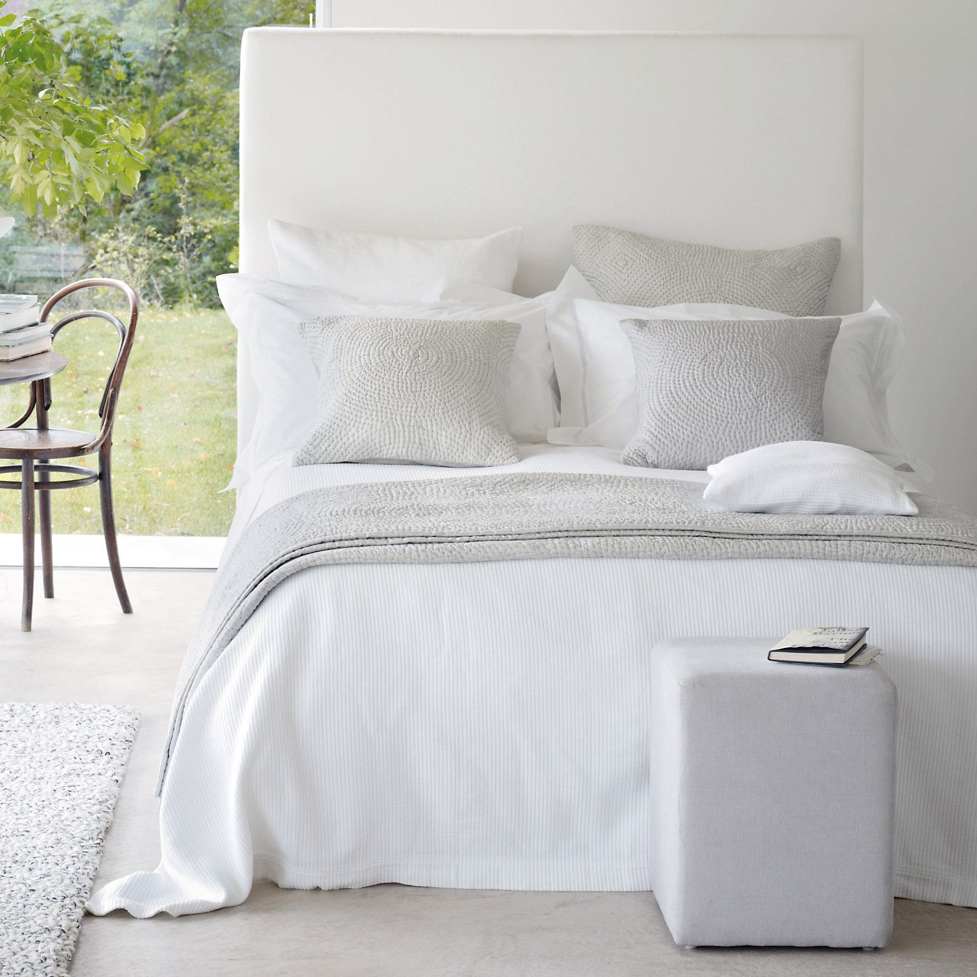 Florence Quilt Cushion Covers Eucalyptus The White Company