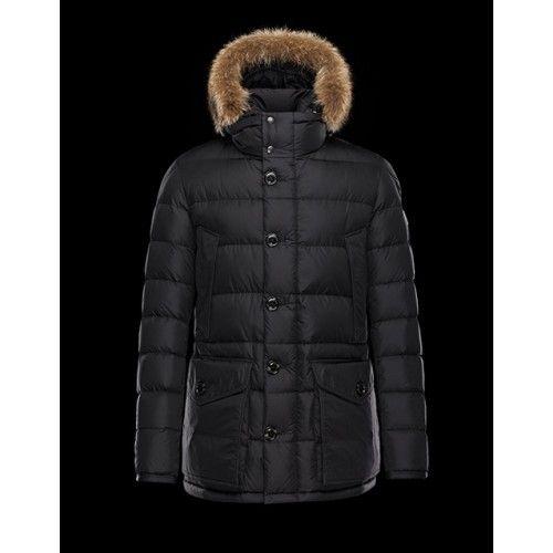 Moncler Jakke Herre - Ny Moncler Hooded Padded Coat Herre Sort Moncler  Vinterjakke Herre Salg c96d73bb5fc0e