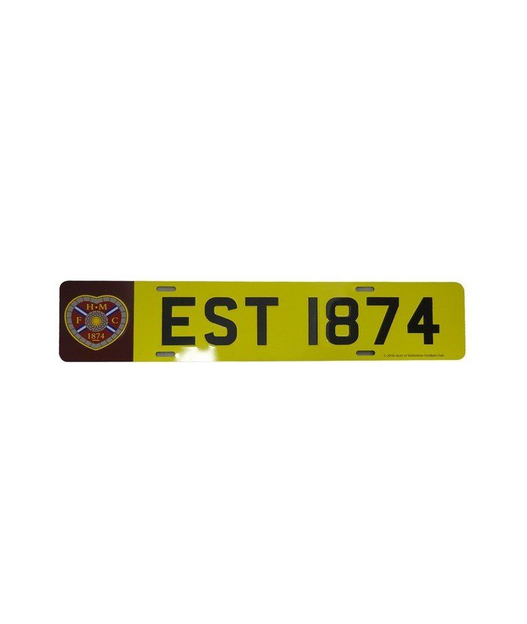HMFC Number Plate Heart of Midlothian in 2020 Number