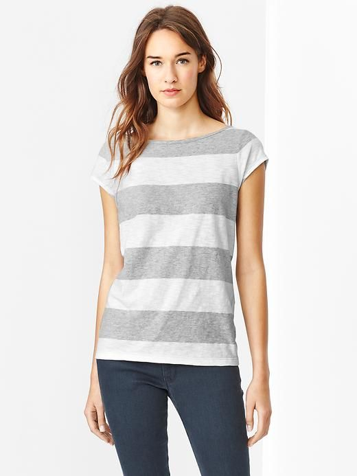 Rugby Ballet-Back Slub Tee | Stripes
