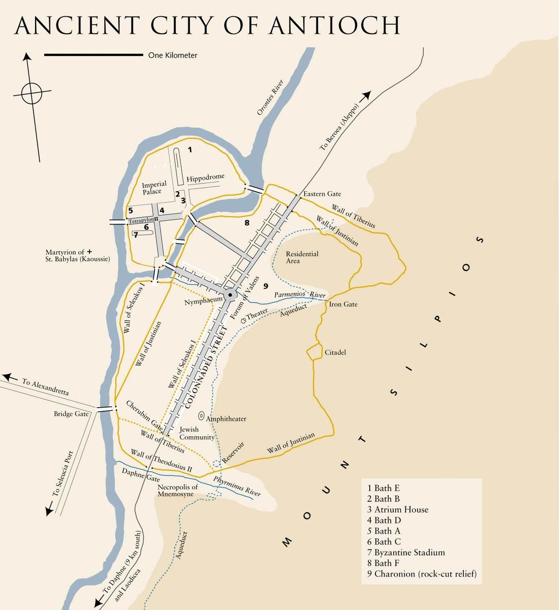 The ancient city of Antioch | Maps | Pinterest