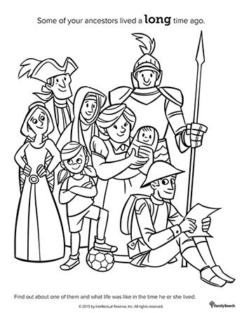 A black-and-white drawing of a group of men, women, and