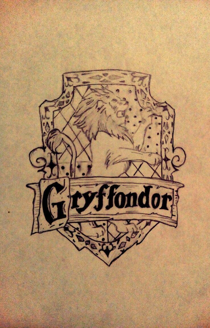 Gryffondor dessin noir et blanc Harry Potter | Dessin noir ...