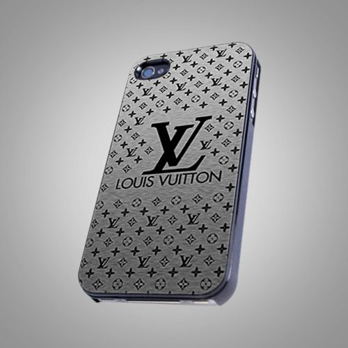 Luois Vuitton Silver Logo Wallet - For IPhone 5 Black Case Cover