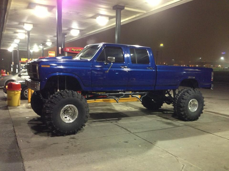 Ford F350 Lifted   Monster 1985 F350