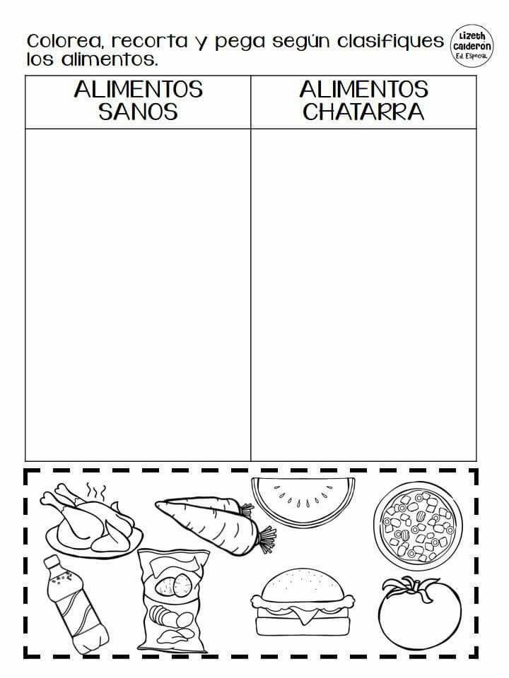 Resultado de imagen para dibujo comida chatarra para colorear ...