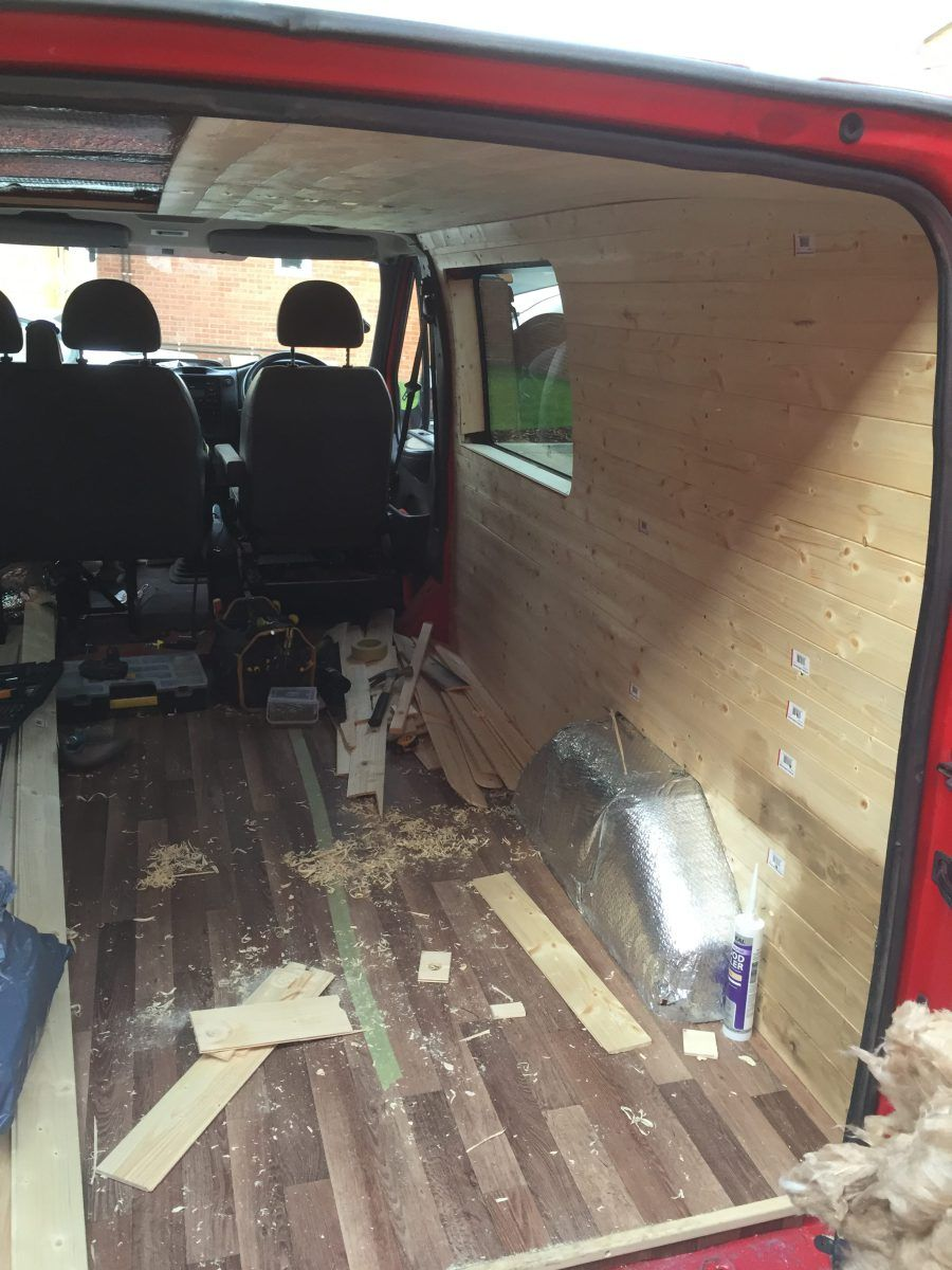 In This Post Im Going To Show You How I Built A Wall My Van Conversion Project Stage Wood Strips First Had Screw The So
