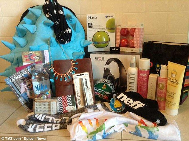 Inside Kylie Jenner's Sweet 16 party goodie bag
