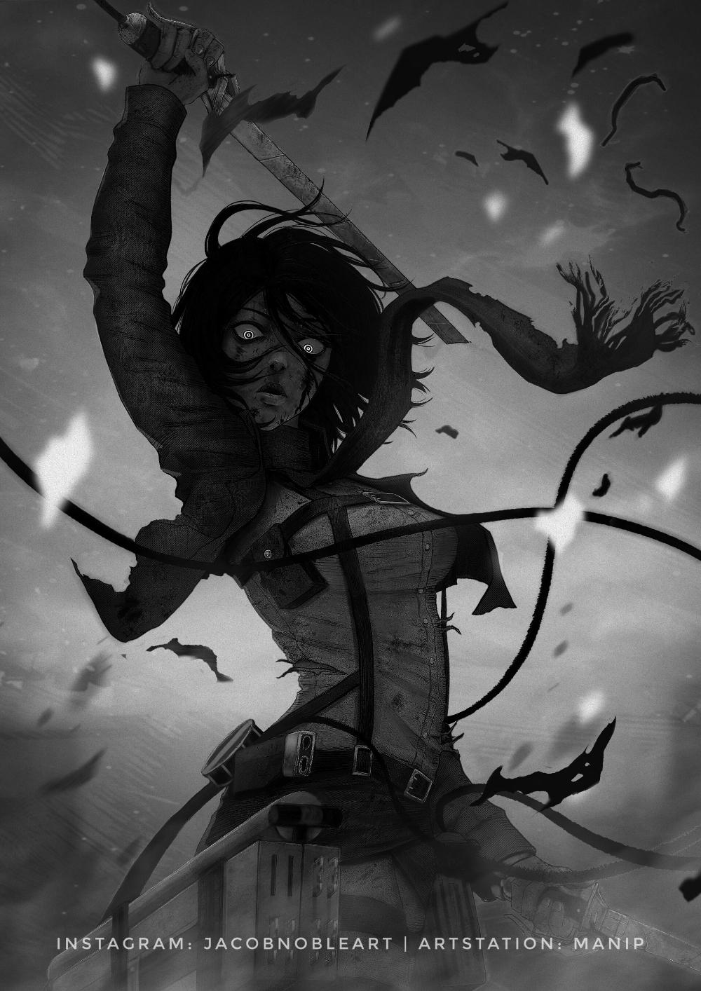 Artstation Mikasa 2 Jacob Noble Attack On Titan Fanart Attack On Titan Anime Attack On Titan Eren