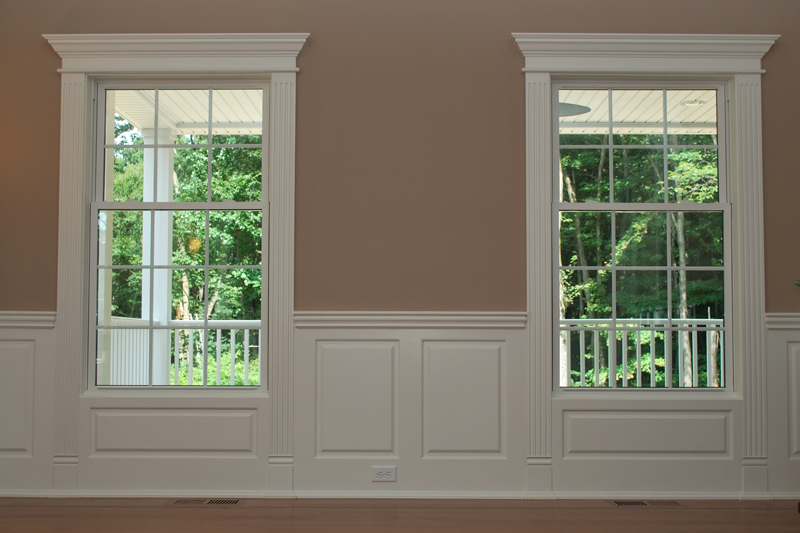Wainscoting America\u0027s Wainscoting Design System incorporates elegant Pediment Heads Fluted Pilasters and Plinth Block trim for your windows and doors that ... & waynes coating designs   Wainscoting America\u0027s Pediment Head and ... Pezcame.Com
