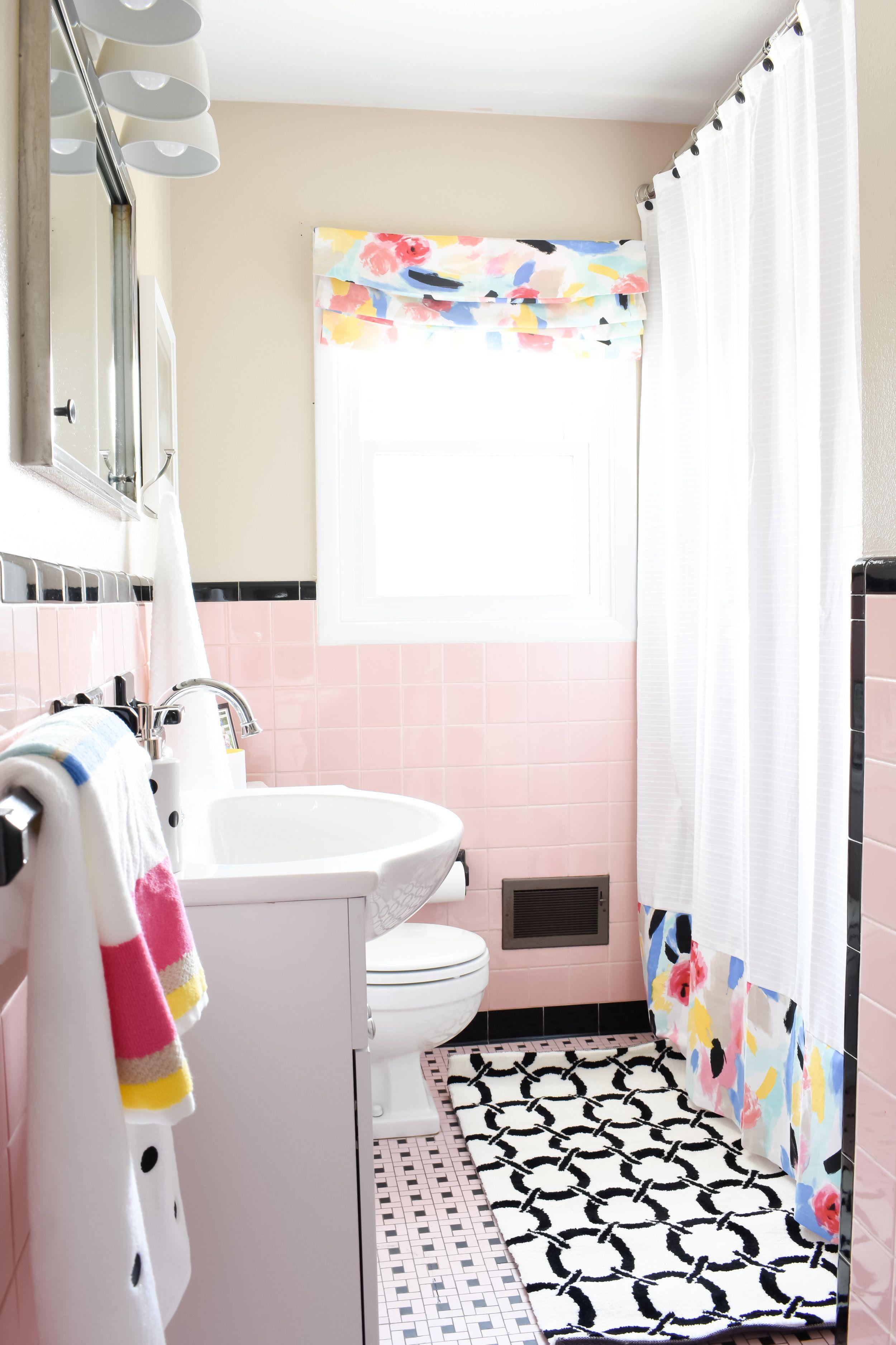 Pink Tile Bathroom Refresh Vintage Bathroom Tile Pink Bathroom