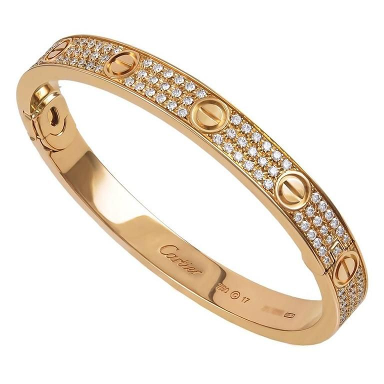3ea42c6f0 Cartier Rose Gold Diamond LOVE Bangle | Spotlight On: 1stdibs Jewels ...
