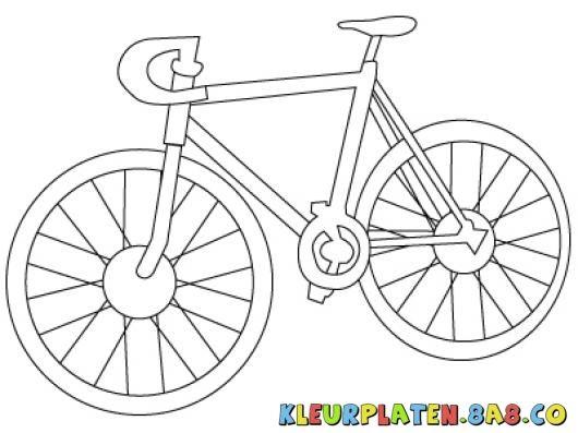 Afbeeldingsresultaat voor kleurplaat fiets