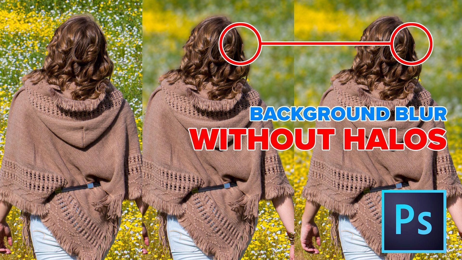 How to add a blended background blur to a photo in