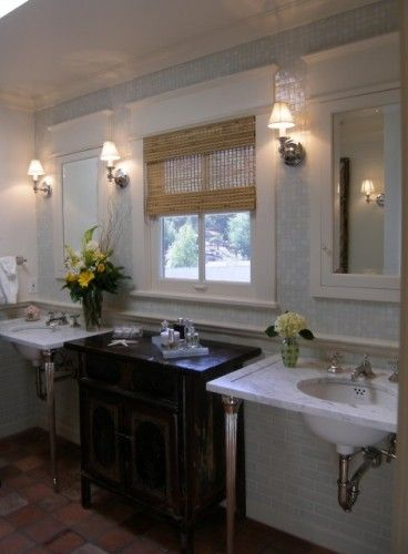console sink with cabinets