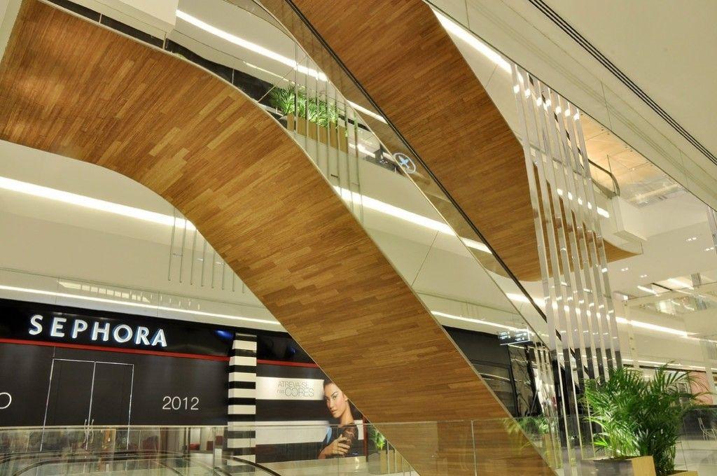 timber escalator soffit   Mall   Shopping mall interior, Mall design