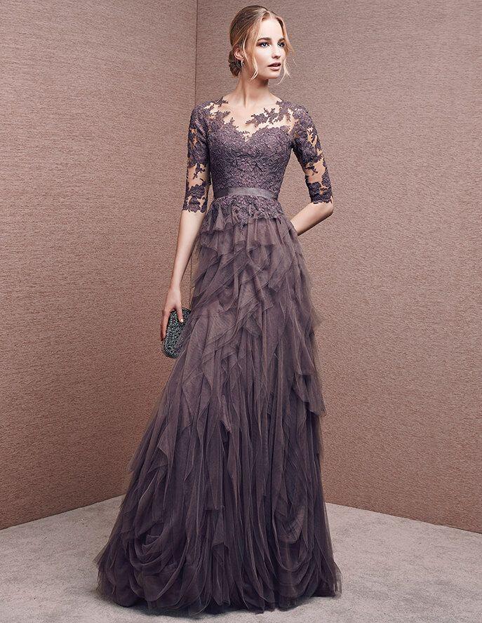 Kleid mit herzförmigem Dekolleté aus Spitze | Vestidos noche ...