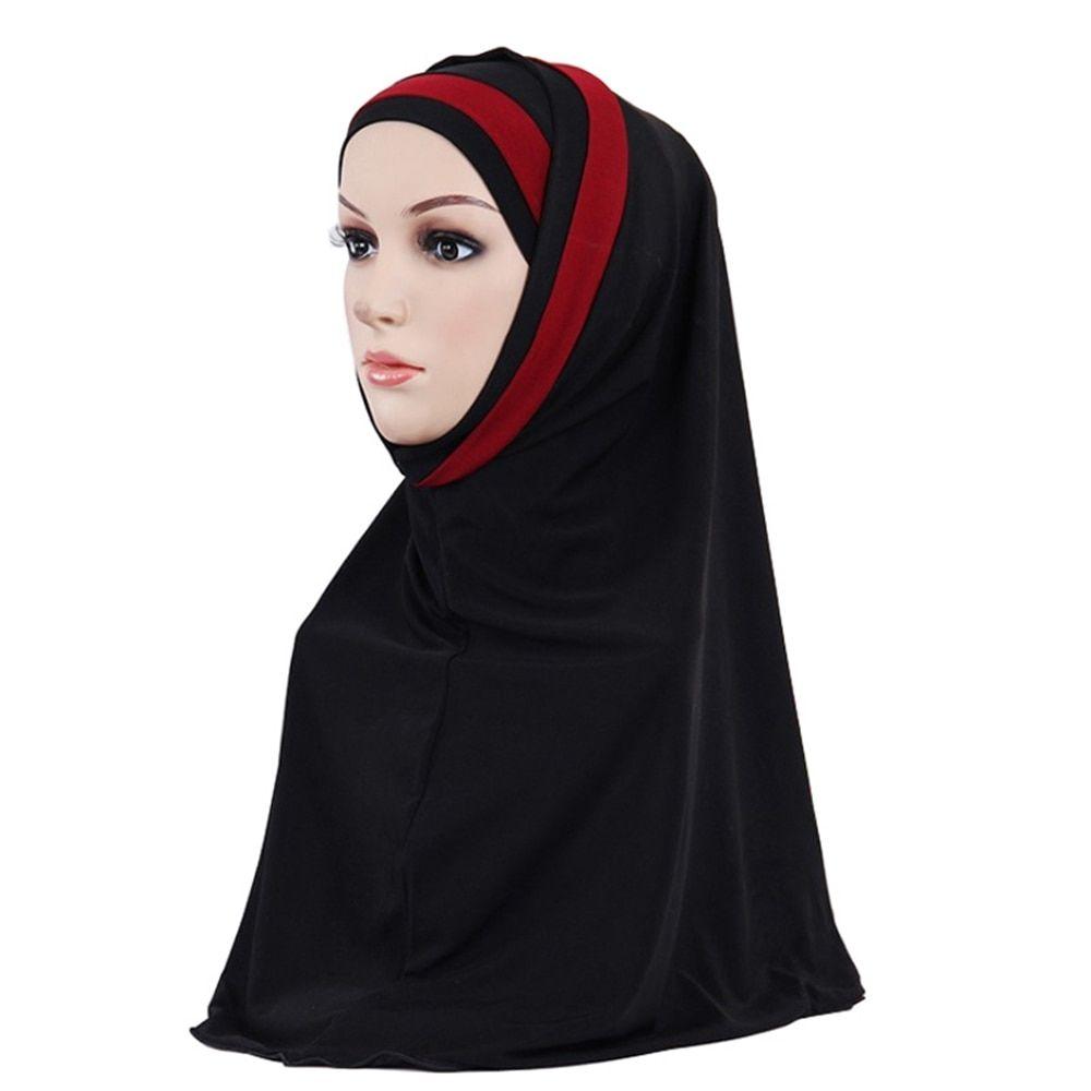 Islamic Muslim Cotton Headscarf Inner Hijab Cap Underscarf Ninja Hijab Scarf