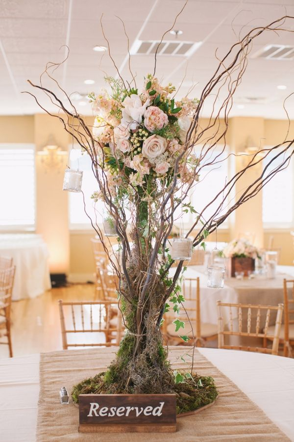 Tall curly willow centerpiece centerpieces