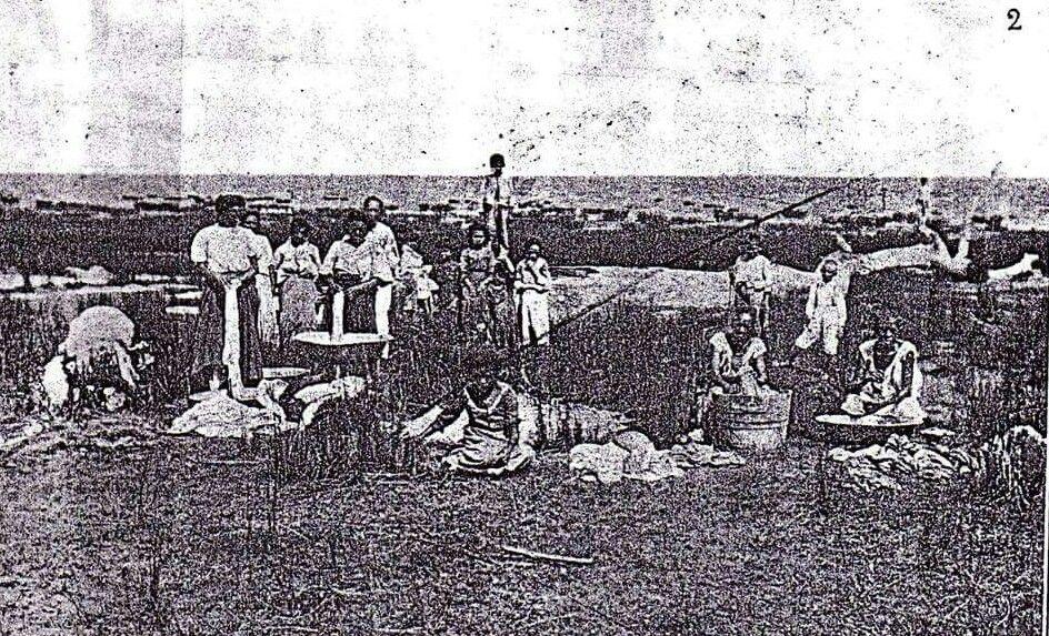 Lavadeiras na praia de Macapá