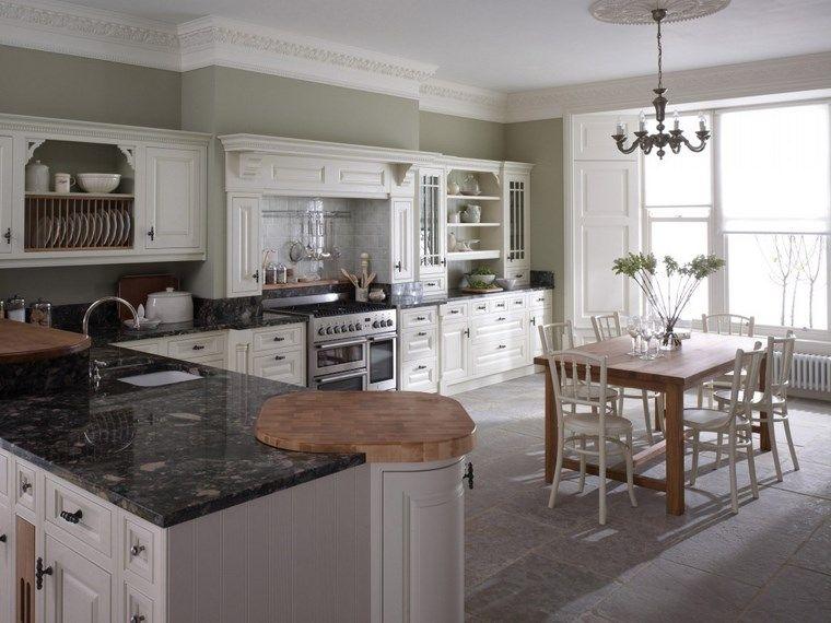 Forma cocinas: más de 50 diseños de cocinas en L - | Mesa de madera ...