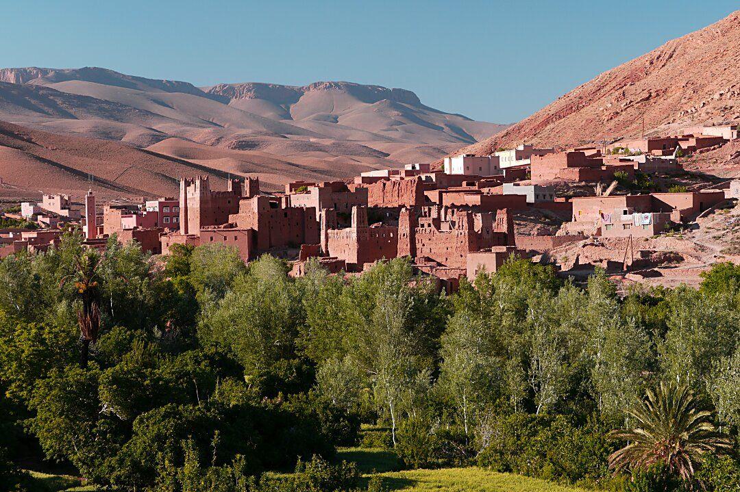 Morocco, High Atlas Mountains, Kasbah Ait Arbi Stock Photo
