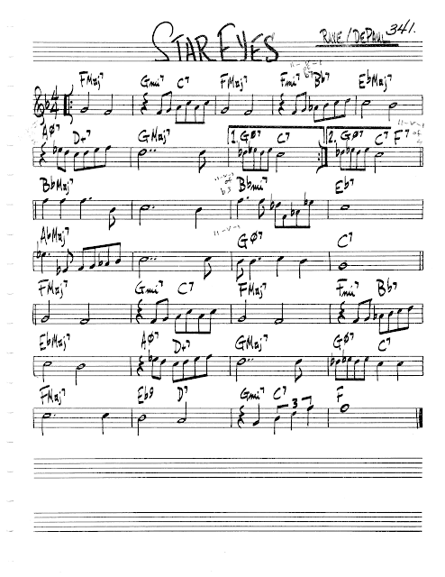 Jazz Real Book Ii Page 341 Star Eyes Jazz Standard Sheet Music Jazz Songs Jazz Standard Sheet Music