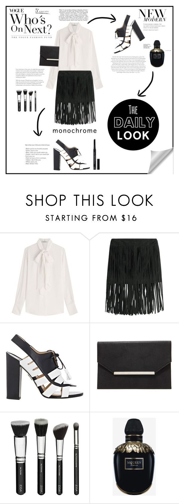 """""""Word."""" by zeljkaa ❤ liked on Polyvore featuring Valentino, McQ by Alexander McQueen, Paul Andrew, Forever 21, Envi, Alexander McQueen and Christian Dior"""