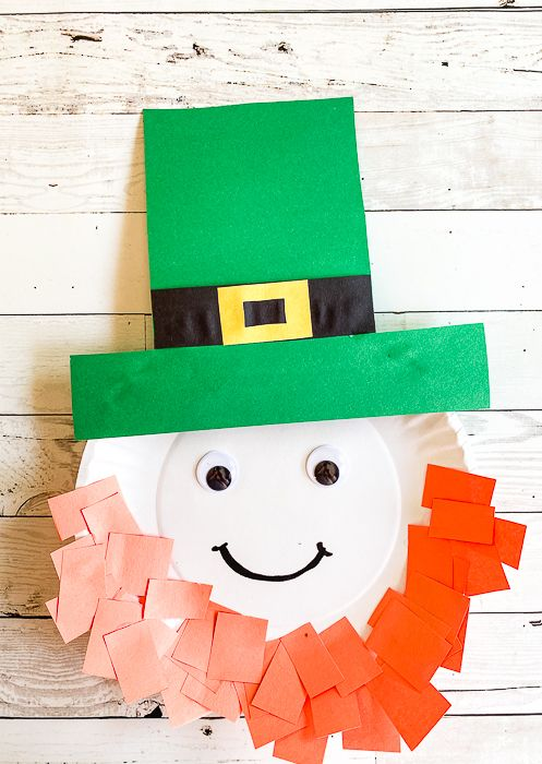 Paper Plate Leprechaun Craft for St. Patrick's Day ...