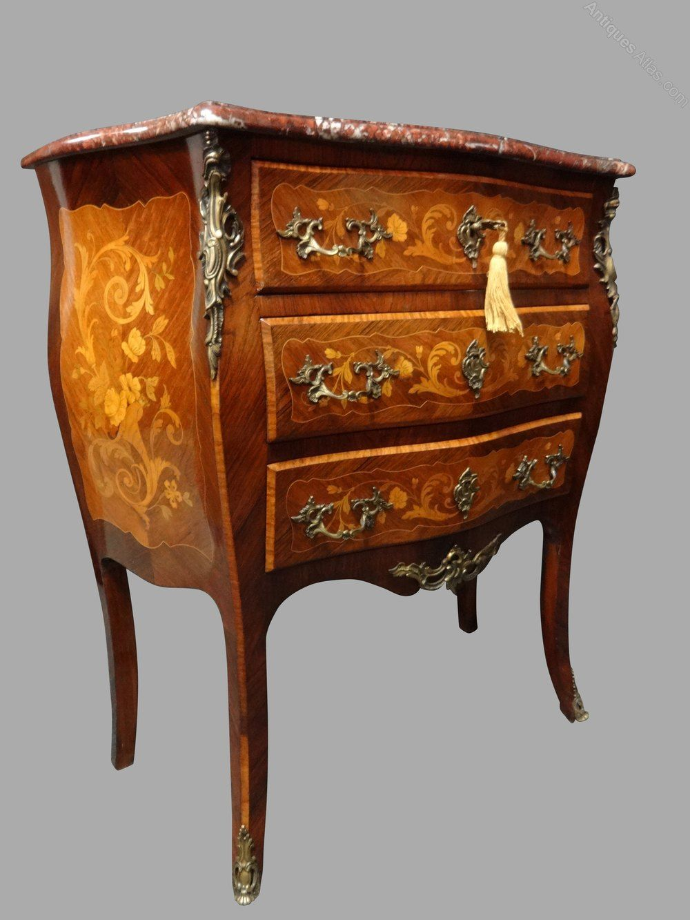 Superb French Marquetry Commode Chest Of Drawers In 2020 Marquetry Chest Of Drawers Antiques