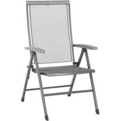 Photo of Royal Garden Balero folding chair Metal iron gray / light gray Royal gardenRoyal garden