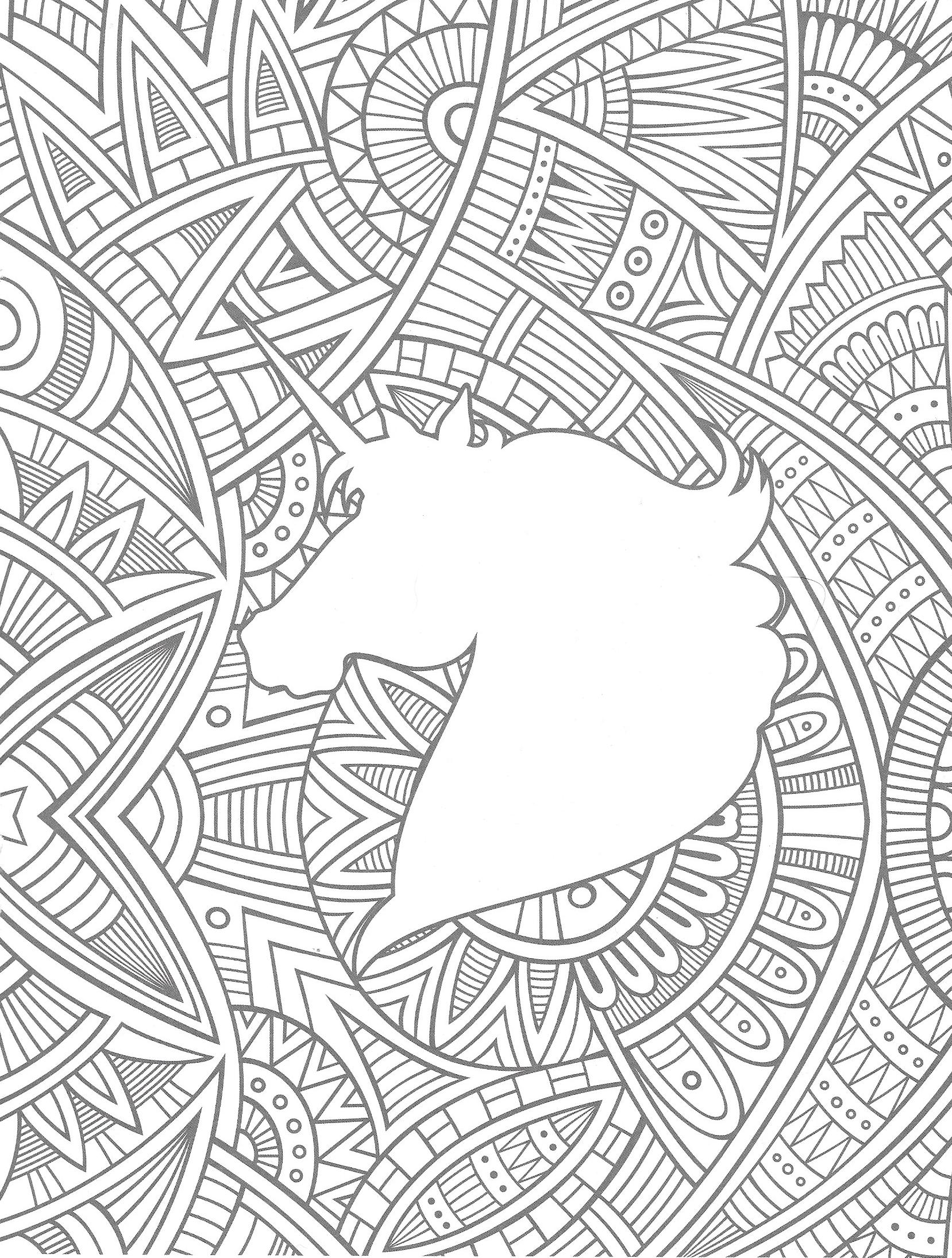 Malvorlagen Ausmalen Unicorn Einhorn Bunt Colour Coloring Pages