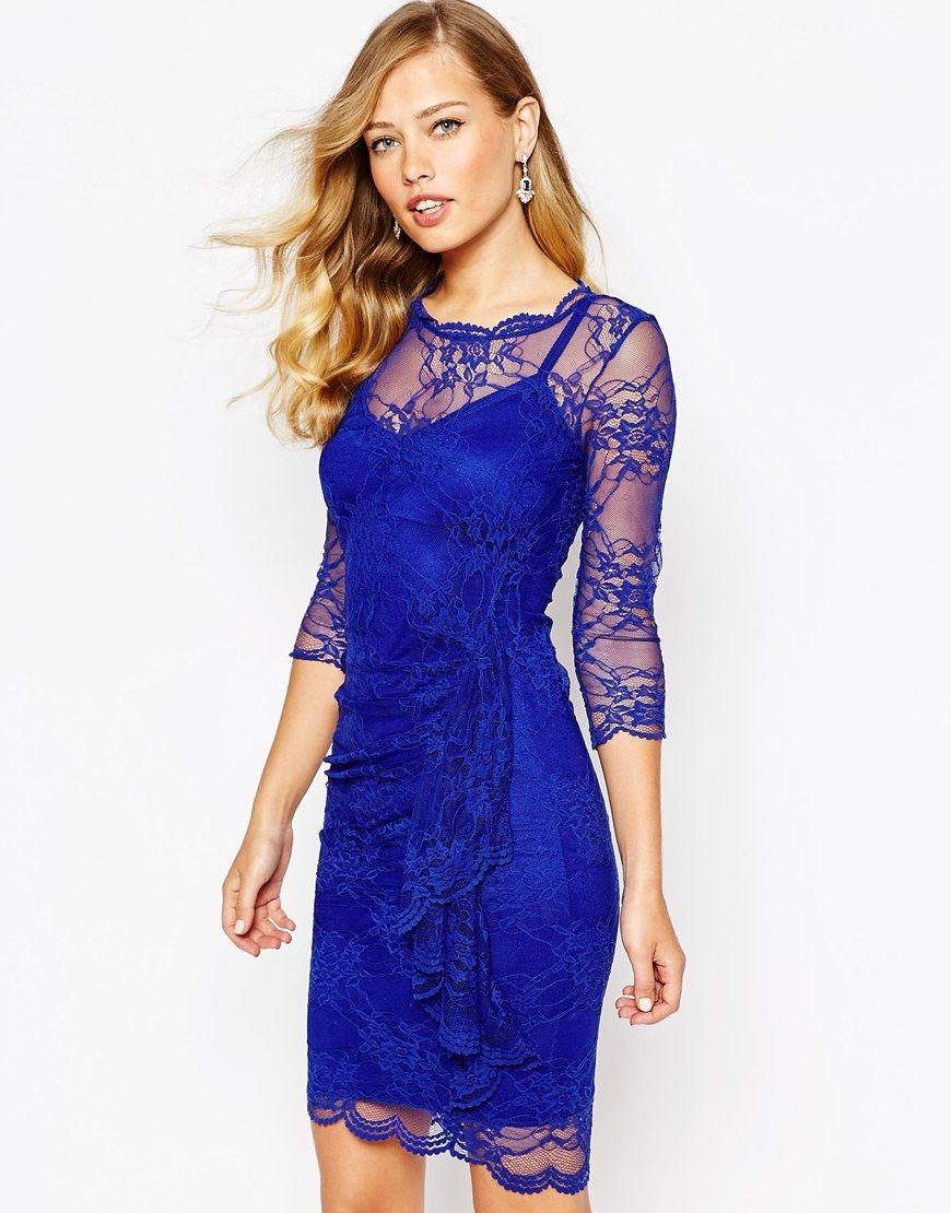 77ddbd62b7de Body Frock Joanna Dress In Lace With Ruffle