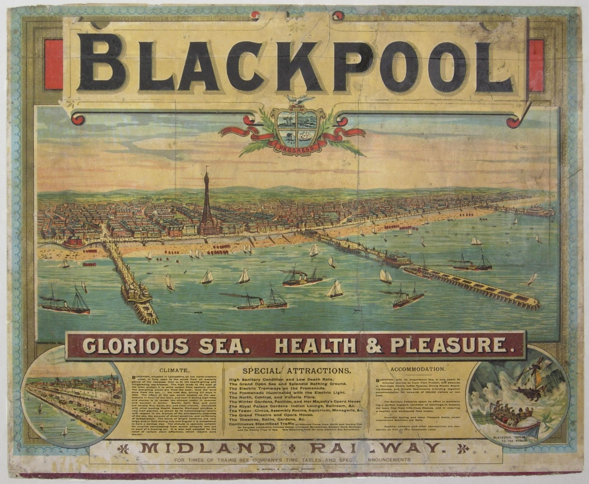 blackpool poster after conservation steam train images