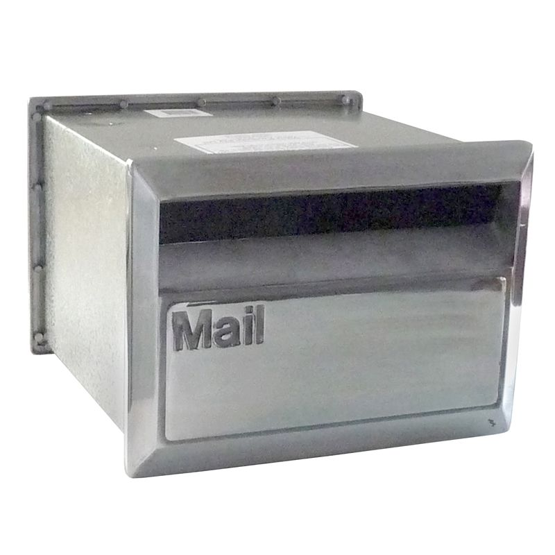 Velox 230mm Flexi Back Open Polished Silver Letterbox