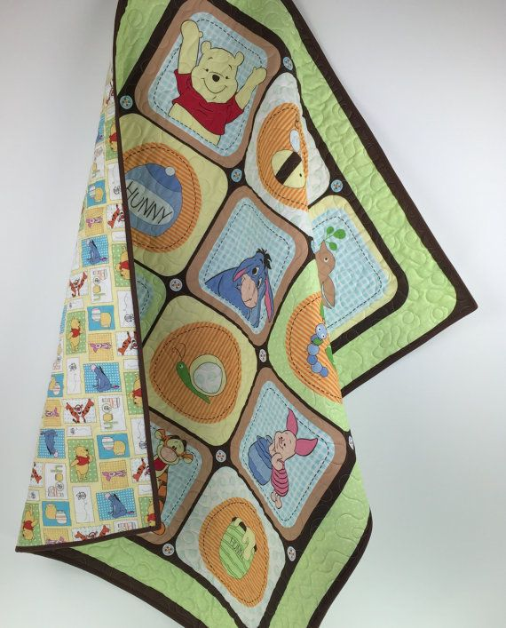 Winnie the Pooh Baby Quilt Winnie the Pooh by BabyQuiltsbyRomiW ...
