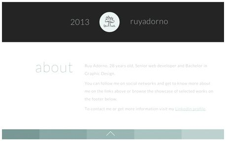 Ruy Adorno - WebDev Portfolio | Like the idea of a black toolbar - could utilise it still, or just black toolbar keys?