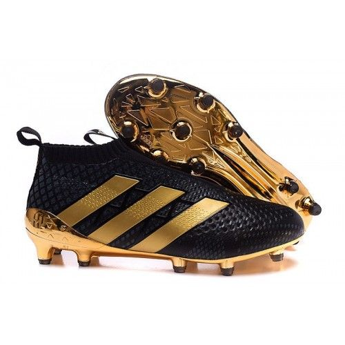 premium selection bd230 6a592 Adidas ACE 16+ Purecontrol Paul Pogba Chaussure De Foot - Noir Or - Adidas  ACE Pas Cher