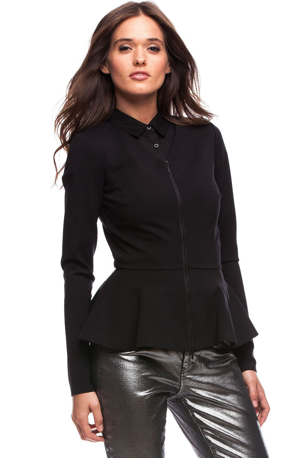 PEPLUM JACKET at Armani Exchange Clothes, Online