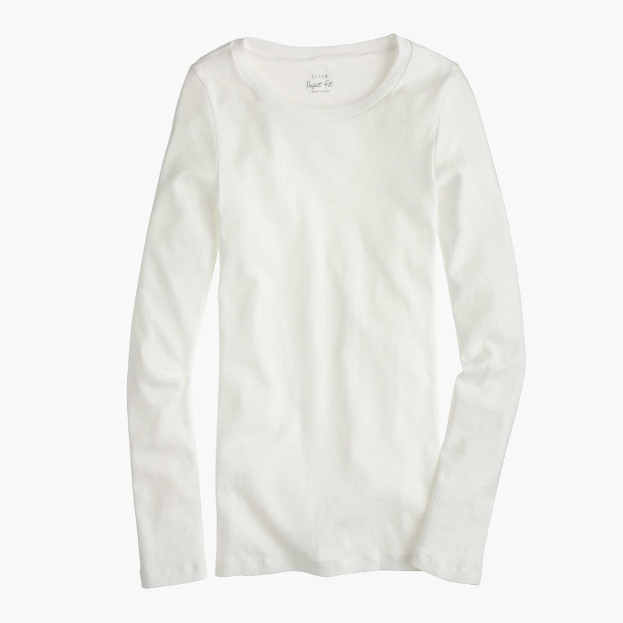 J.Crew Womens Petite Perfect-Fit Long-Sleeve T-Shirt (Size XXS Petite)