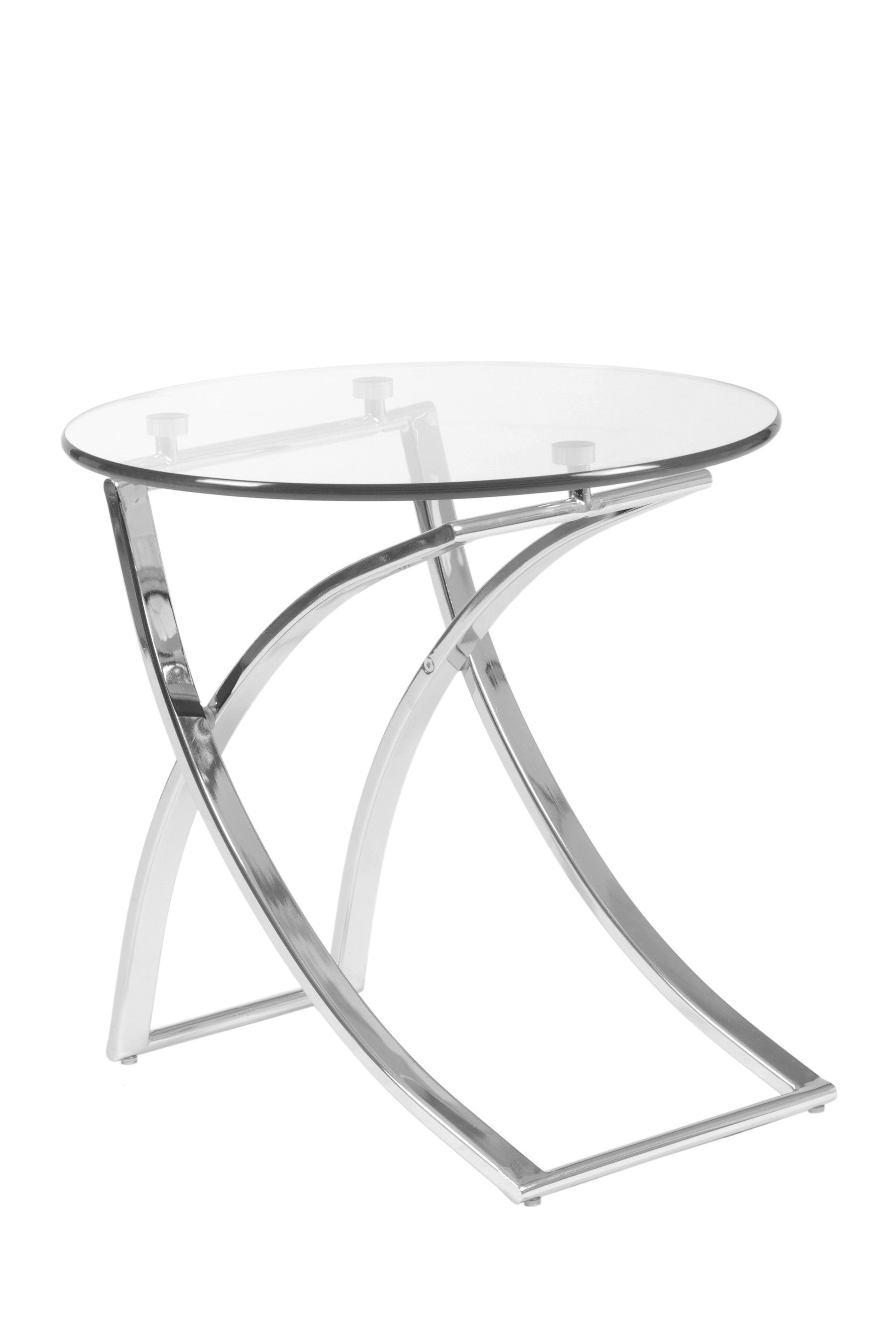 Talisa Side Table Clear Glass Chrome By Euro Style Side Table
