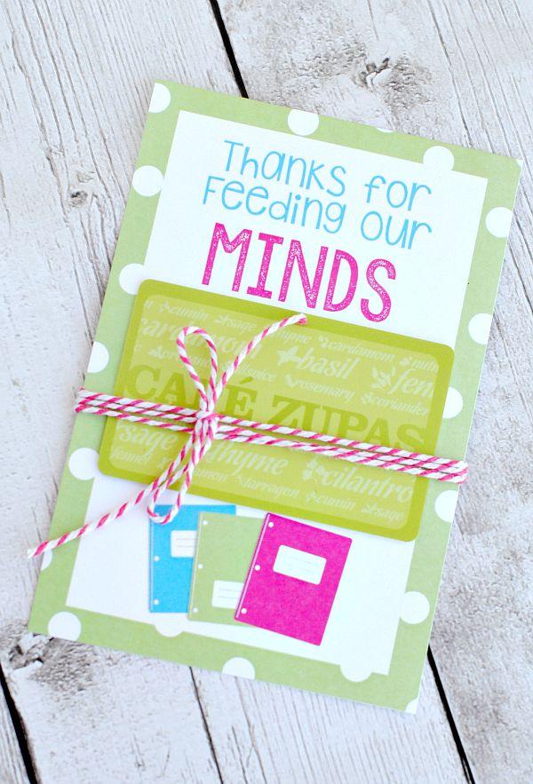 Teacher Appreciation Gifts-Printable Gift Card Holders   Pinterest
