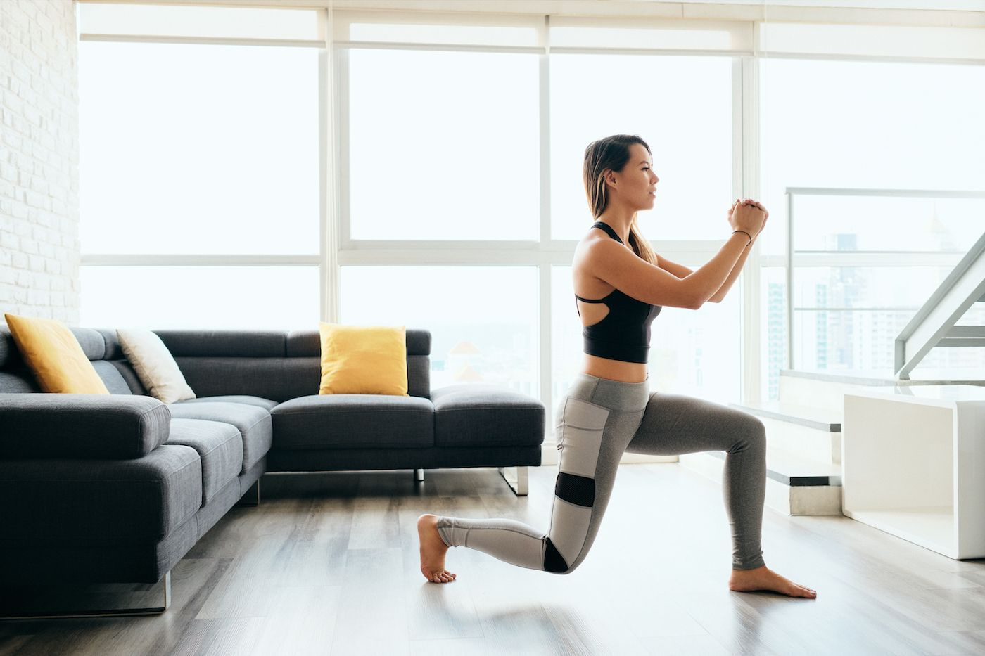 Who needs a kettlebell when you've got a gallon of milk? #yoga #fitness