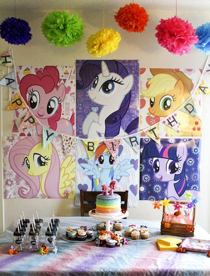 My little pony party inspiration mi jard n fiesta de unicornios fiesta de ponis y cartel - My little jardin ...