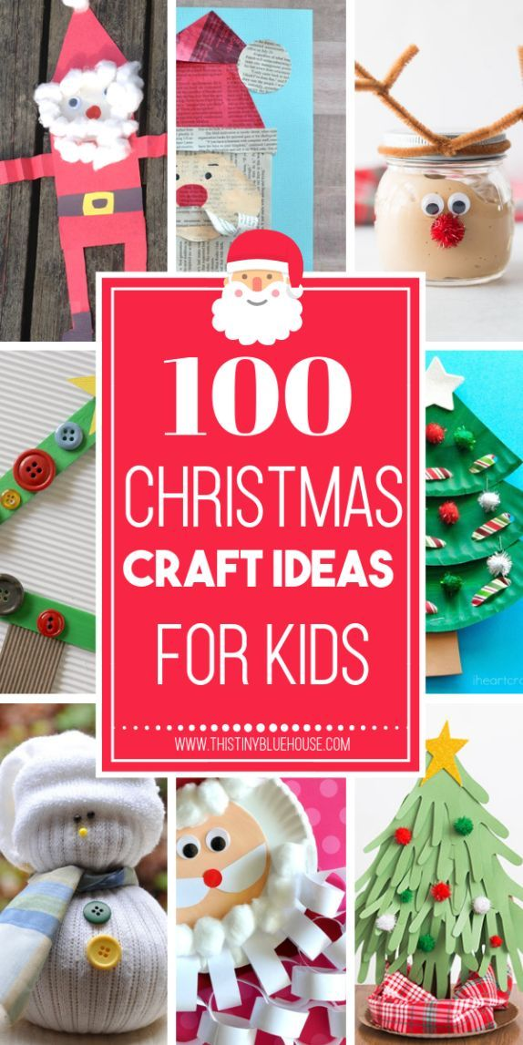 100 Easy Festive Christmas Crafts For Kids Top Blogs - Pinterest